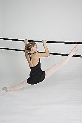 stay limber with ballet stretches using the barre  ballet