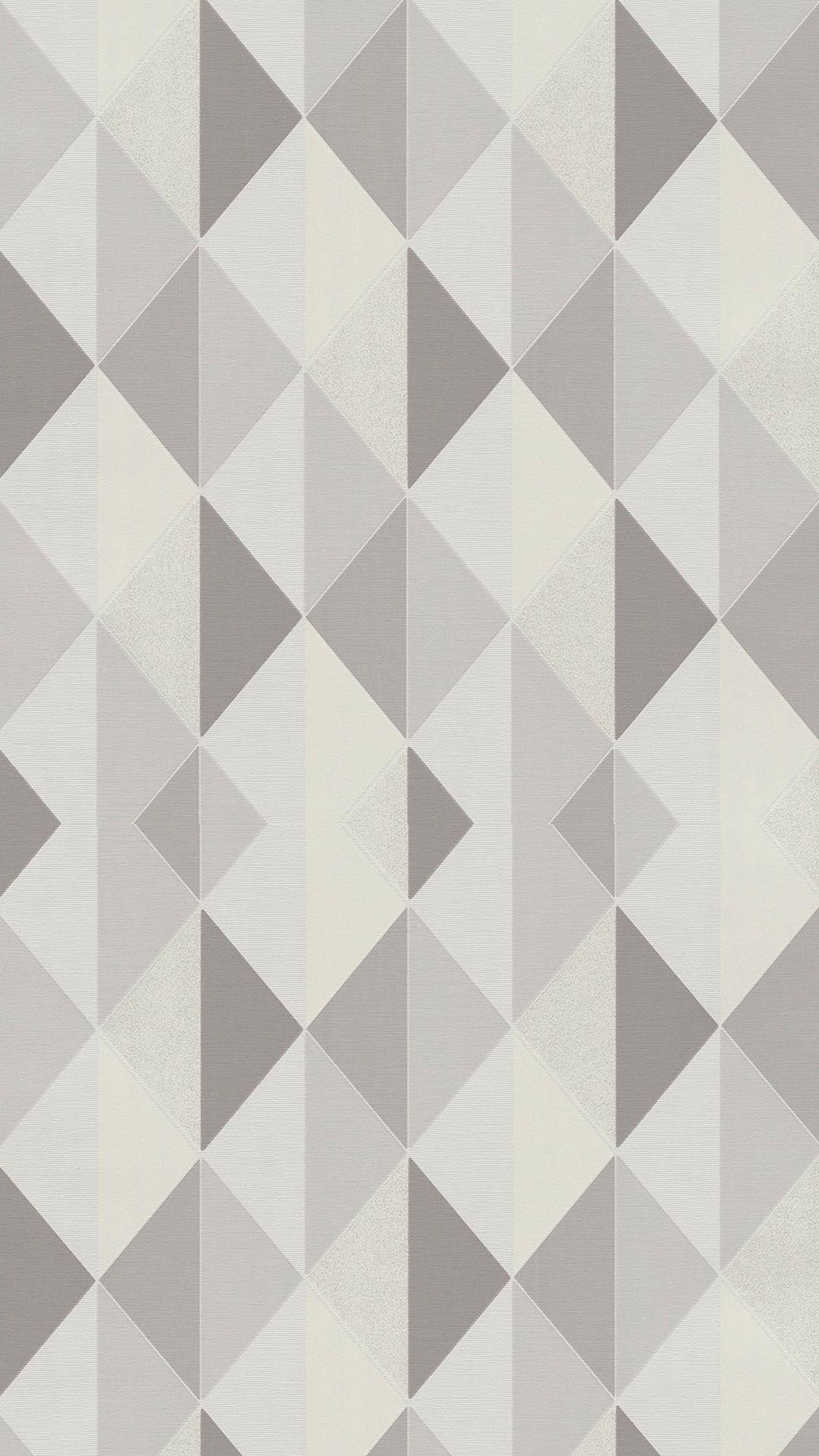 Tate Geometric Triangle Wallpaper Grey Silver In 2019