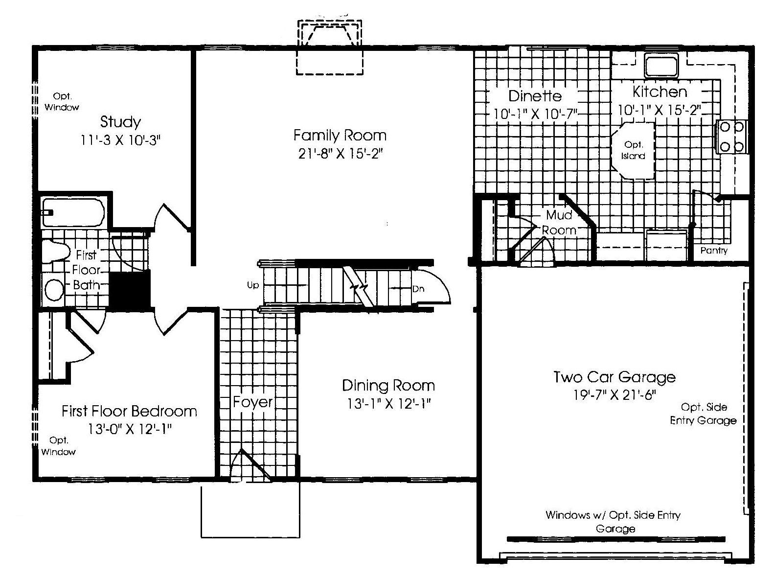 Main Level Floor Plan Ryan Homes Verona Ryan Homes Floor Plans New Homes