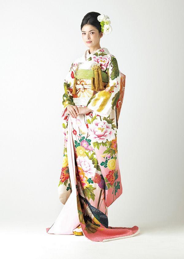 b29ca9636b099 Hiki furisode 引き振袖(富貴牡丹)小袖 日本の着物