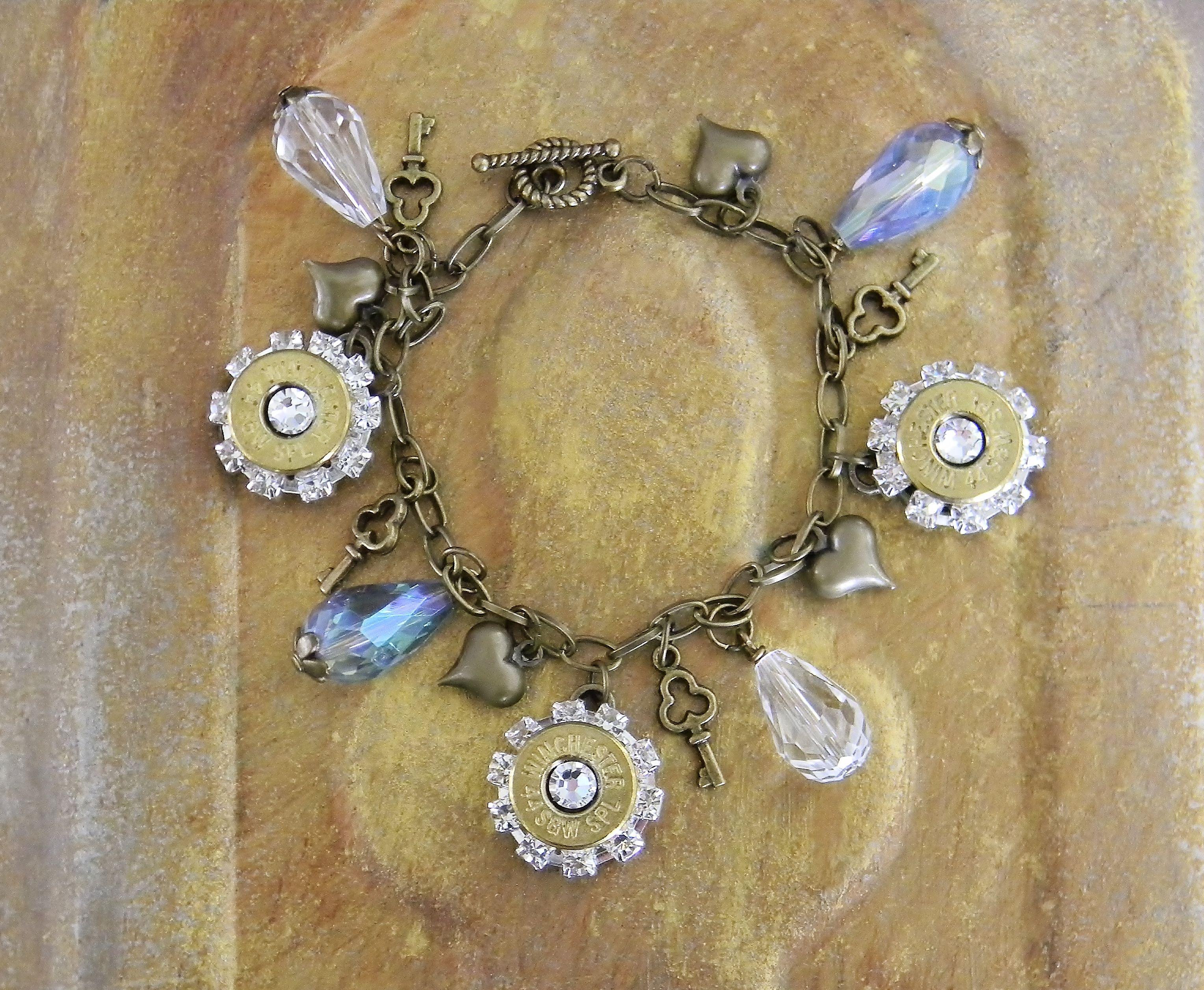 Free body piercing by glock  Bullet JewelryWomenus Bullet Charm Bracelet Use coupon code