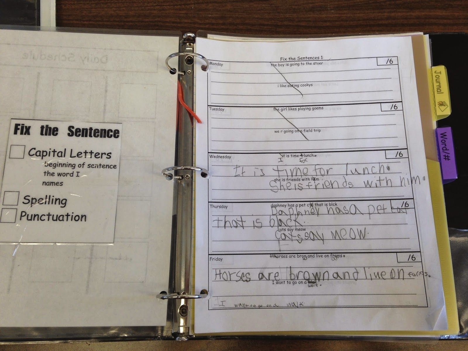 Sentence Correction Worksheets And Visual Checklist