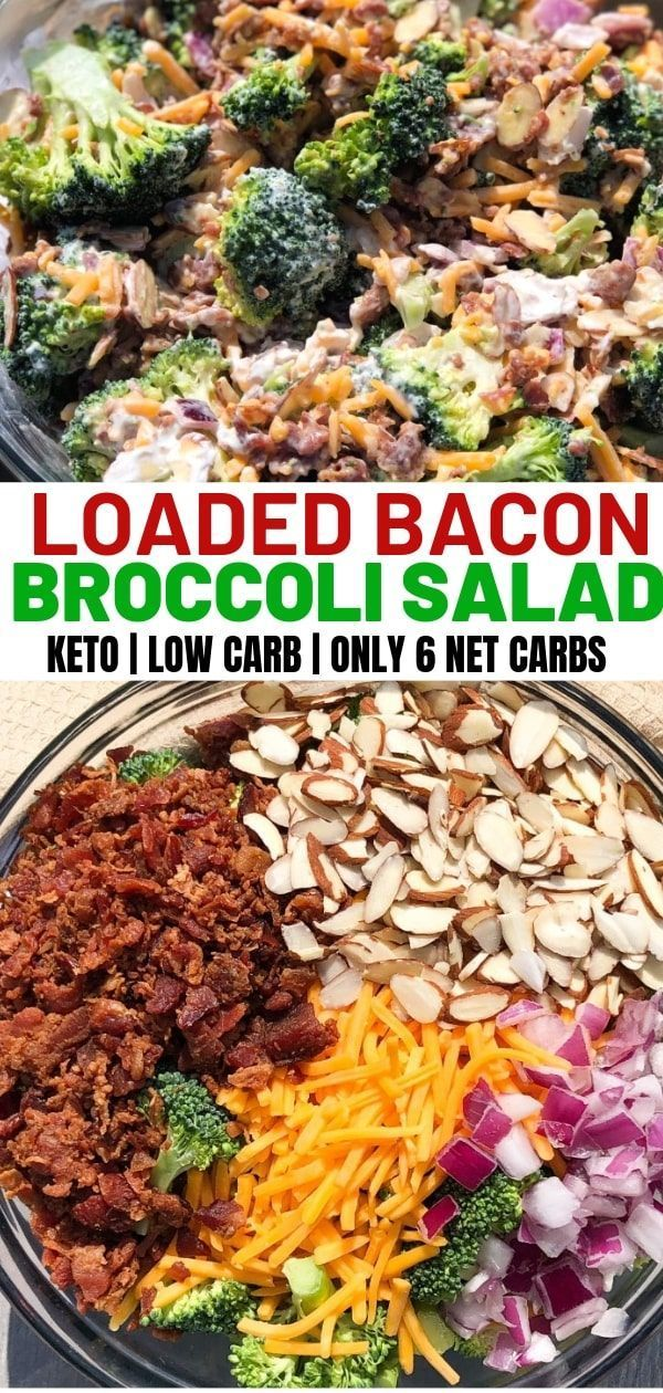 Broccoli Salad with Bacon and Cheddar - Curbing Carbs