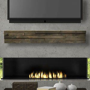 Dawson 60 Inch Modern Mantel Shelf For The Home Wood