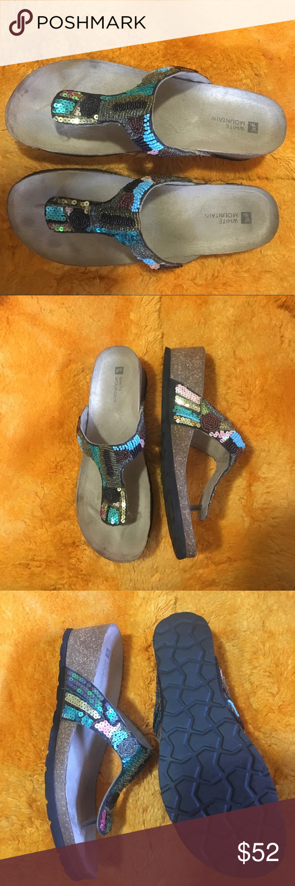 White Mountain Bluejay Comfort Sandals
