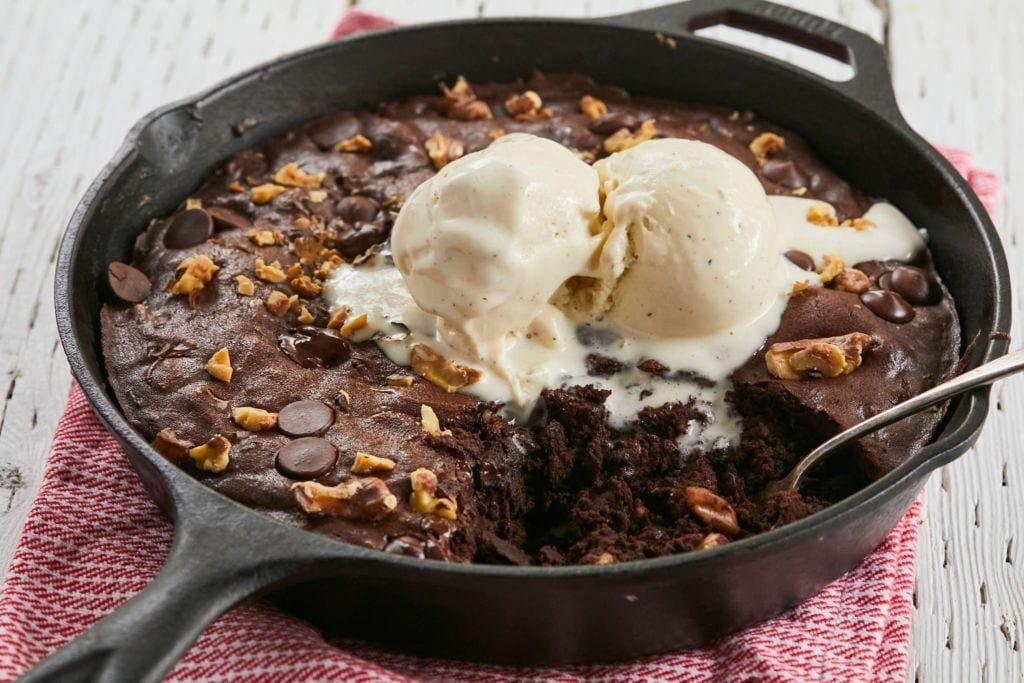 The Perfect Skillet Brownies Recipe Baking Skillet Brownie