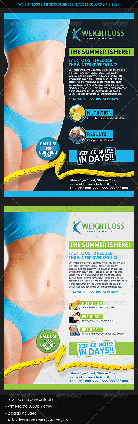 Weight Loss Fitness Business Flyer Business Flyers Business
