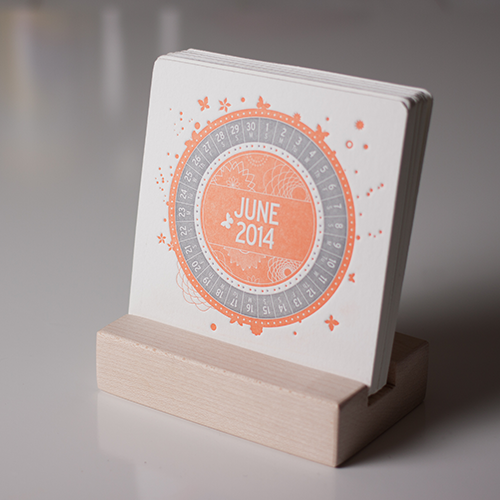 COLOURFUL - A Letterpress Desk Calendar BEAUTIFUL!