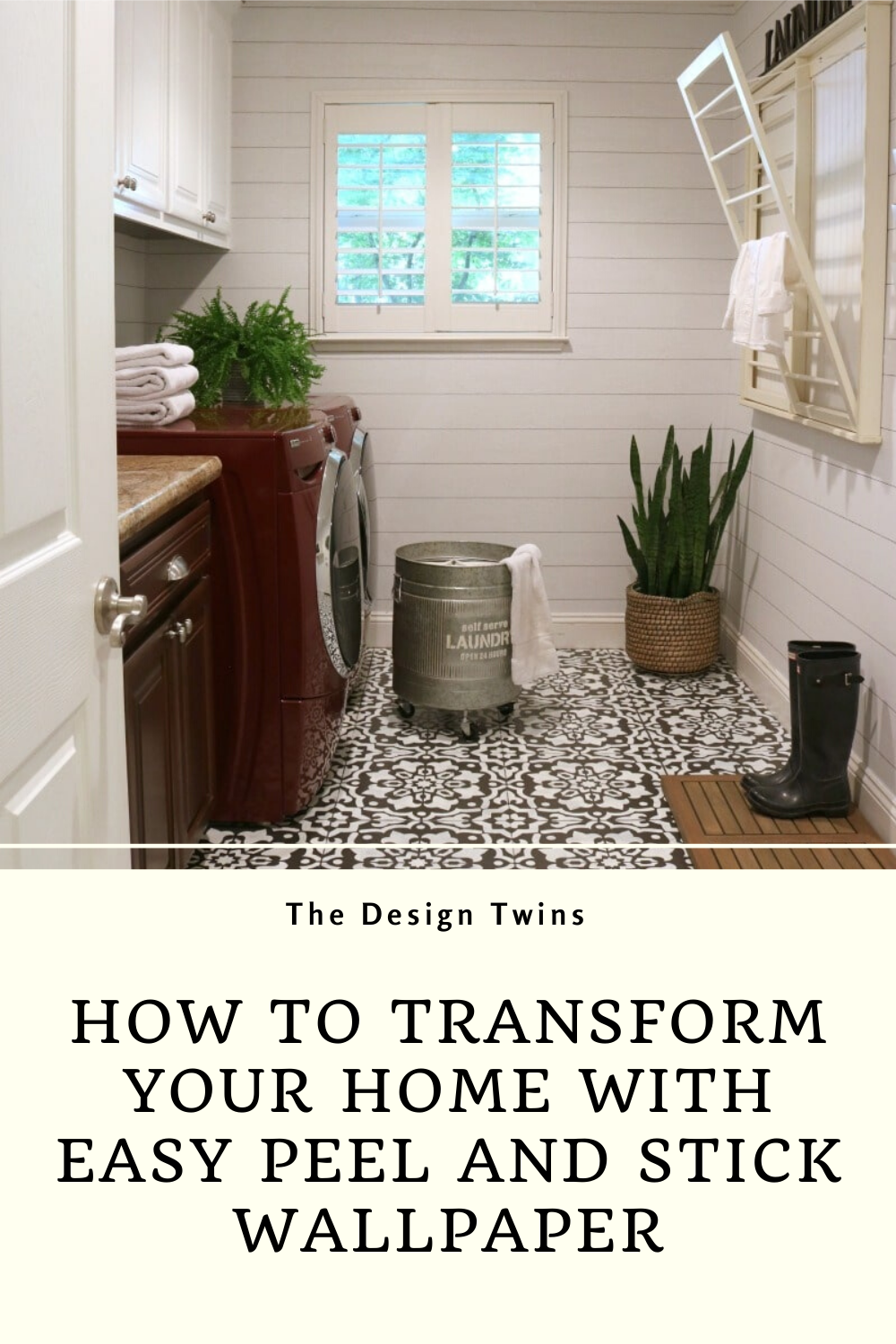 Transform Your Home With Peel And Stick Wallpaper The Design Twins In 2020 Peel And Stick Wallpaper Decorating On A Budget Home Goods Decor