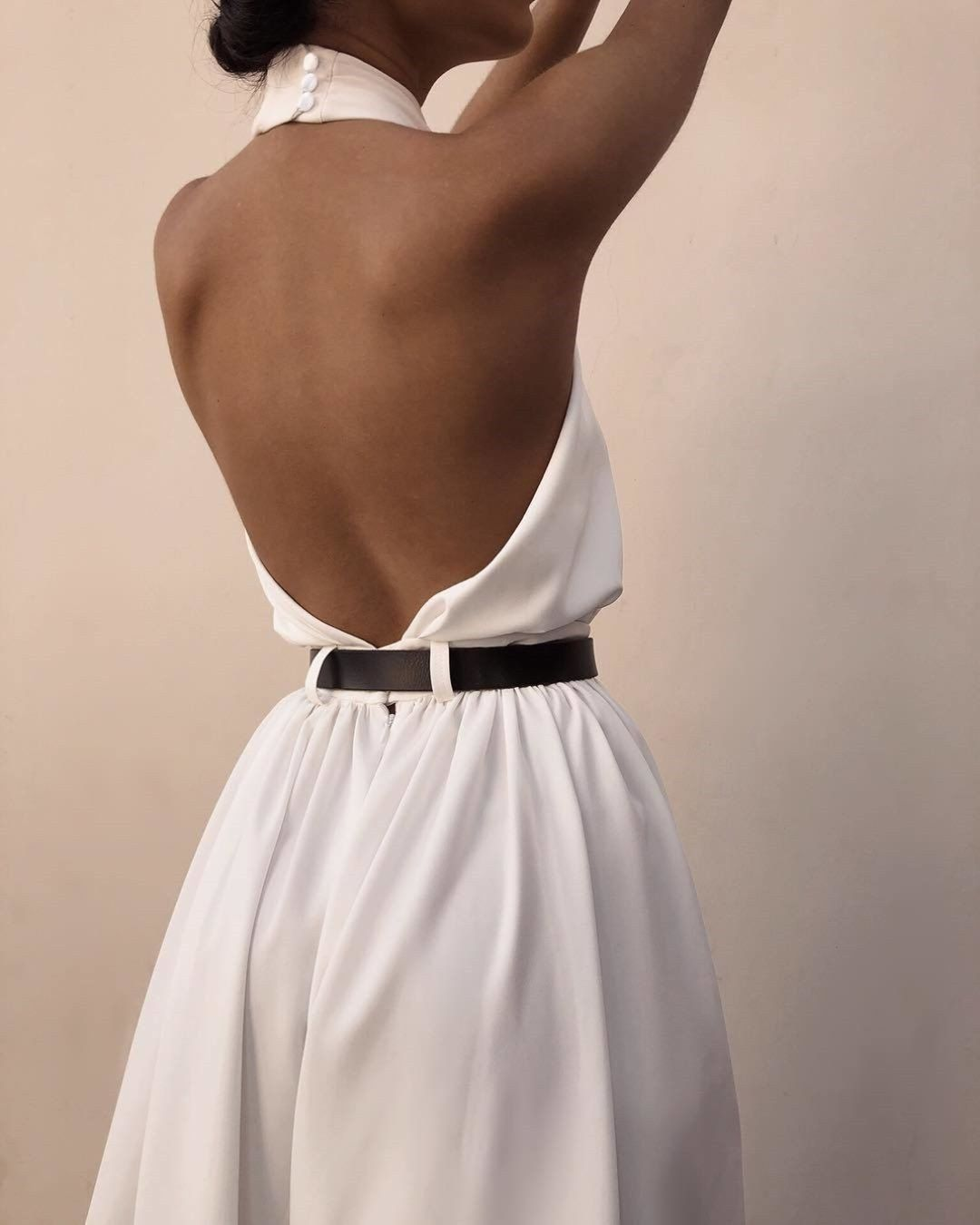 Casual Sexy Sling Off The Shoulder Backless Pure Color Maxi Dress Evening Dress