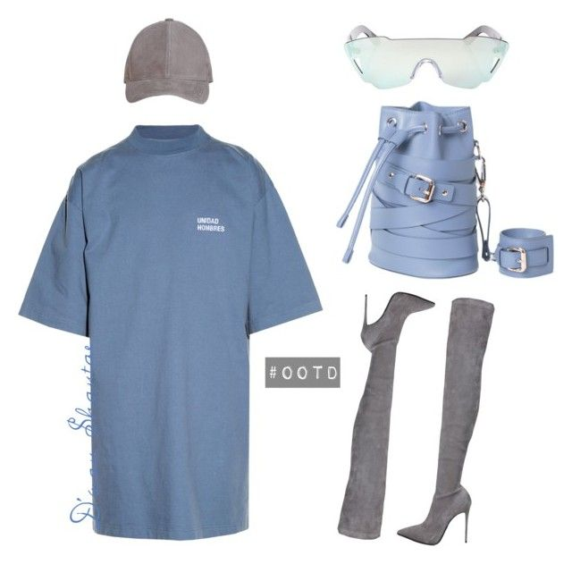 """""""#OOTD - Vetements T-Shirt Dress, JLux Baseball Cap"""" by adswil ❤ liked on Polyvore featuring Vetements, Le Silla, Kyme, Boots, ootd, Minimalist, simplicity and thighhigh"""
