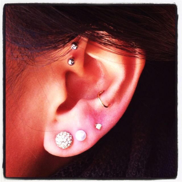 One more piercing to go & then I'll be happy :) Double ... Ear Piercings Snug