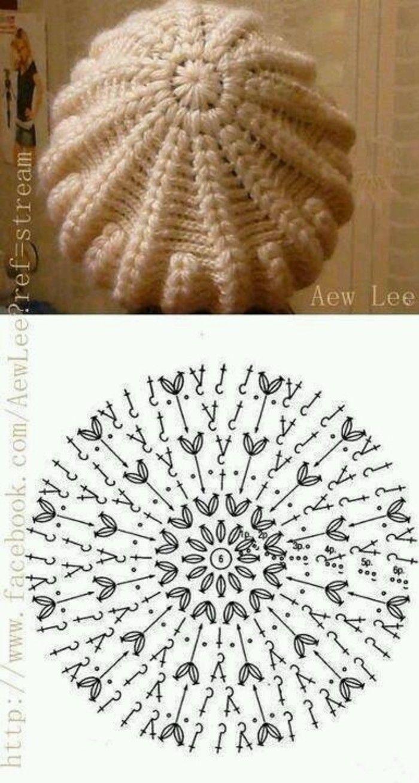 Pin de Nini Dayde en bb | Pinterest | Gorros, Gorros crochet y Tejido