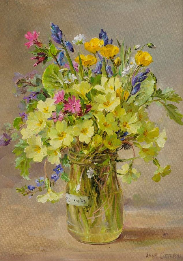 ufukorada:  Spring Flowers by Anne Cotterill
