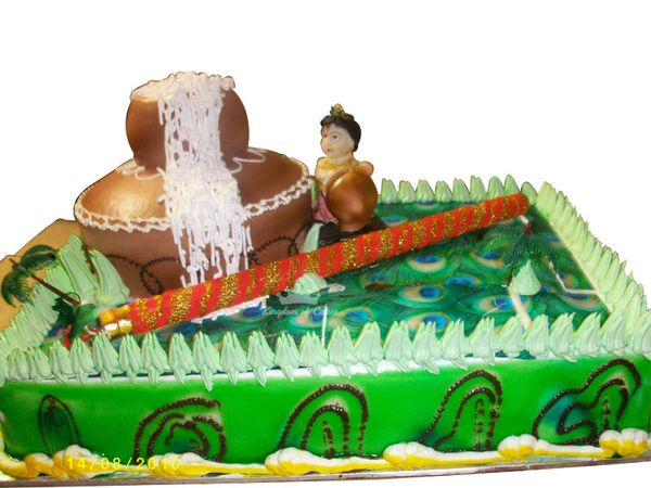 Wondrous Buy Janmashtami Cakes Online Janmashtami Theme Cakes Delivery In Birthday Cards Printable Opercafe Filternl
