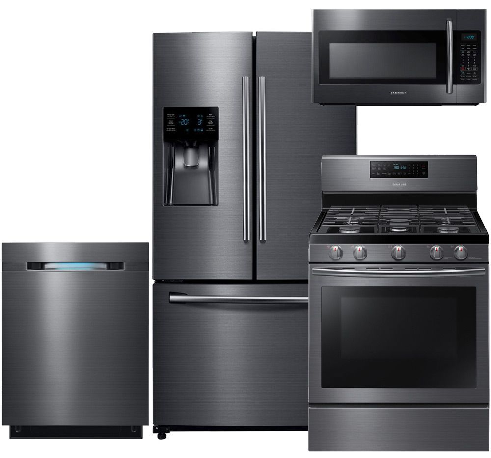 How To Clean Black Appliances Samsung Appliance Rf263beaesg4pckit2 Black Stainless Steel Series
