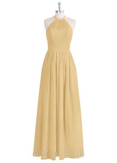 b5bc3142ad4 Azazie Kailyn Gold Gown