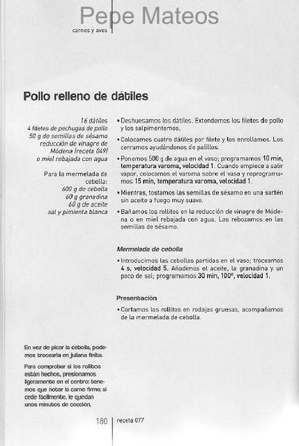 Archivo De Recetas Thermomix Mermeladas Recetas Thermomix Pollo Relleno Recetas