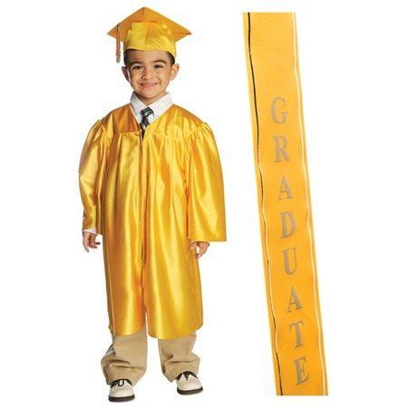 Shiny Grad Set With 2020 Graduation Ribbon Sash Cap And Gown Graduation Gown Graduation Tassel