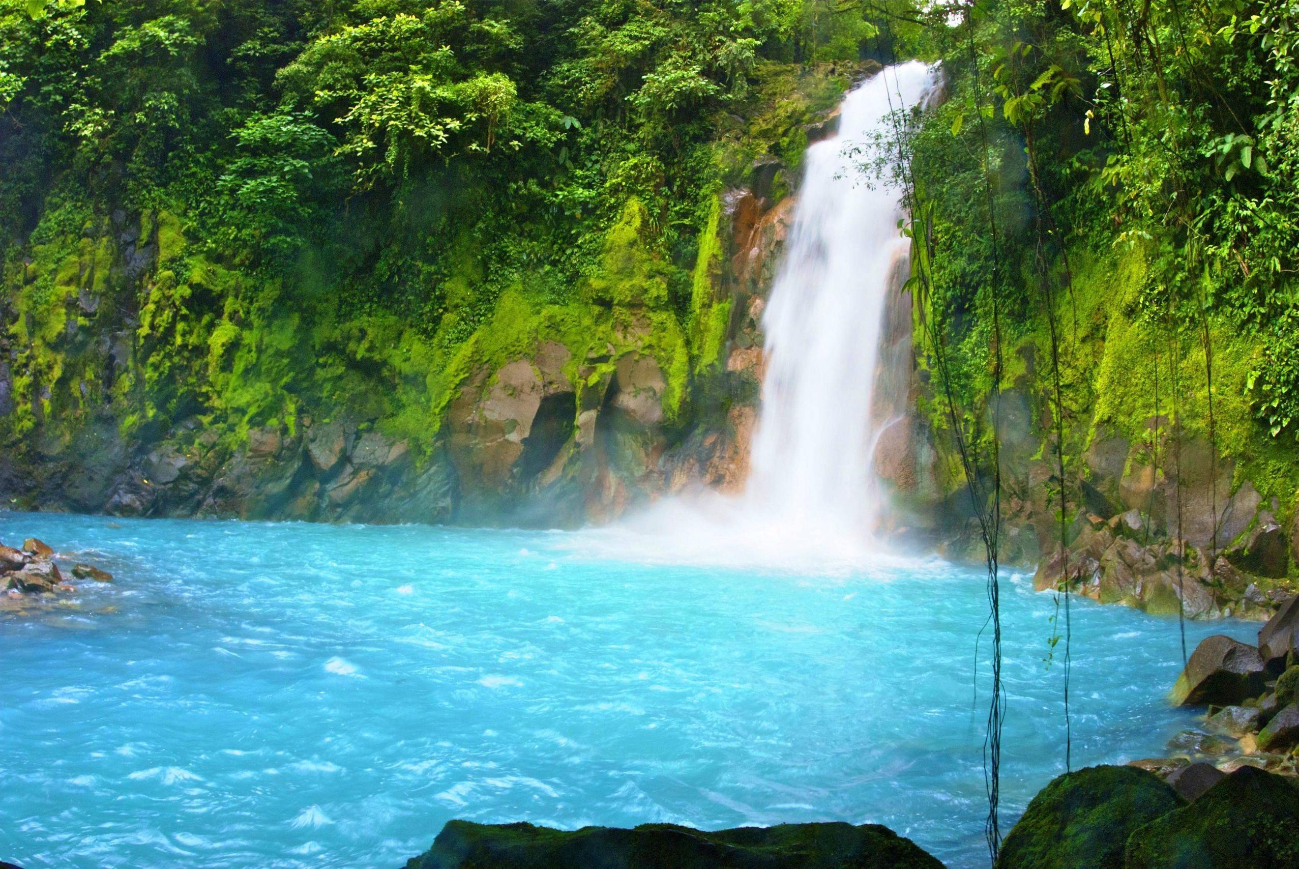 Rio Celeste Costa Rica Beautiful Landscape Photography Costa Rica Travel Waterfall