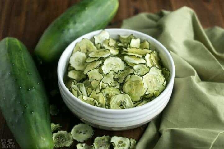 Baked Cucumber Chips with Salt & Vinegar Flavor   Low Carb Yum