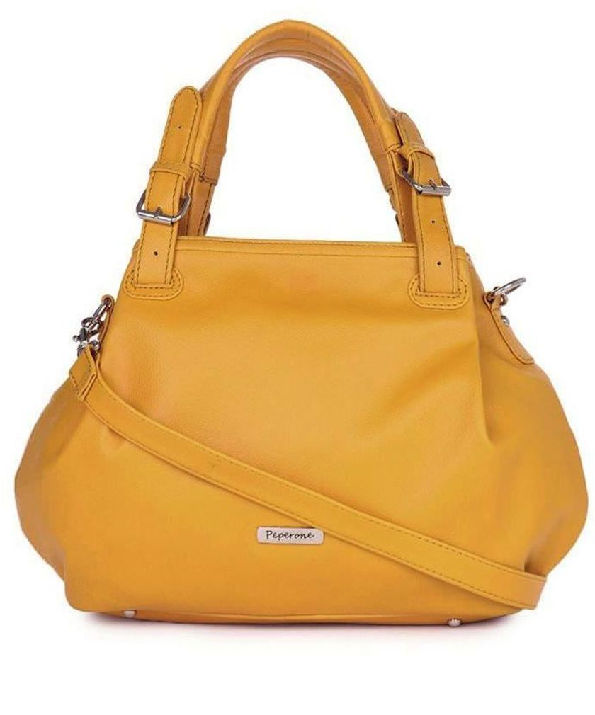 30% discount on Yellow Faux Leather Handbag at 99 labelsFaux Leather Handbag