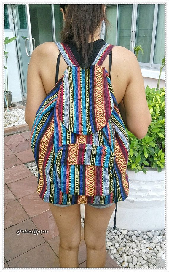 Aztec Woven Backpack Boho Hippie Ethnic Rucksack Hipster Gypsy Tribal Hmong  Shoulder Nepali Pattern Bags Hippie Purse Tapestry Handmade 67817d3ecd