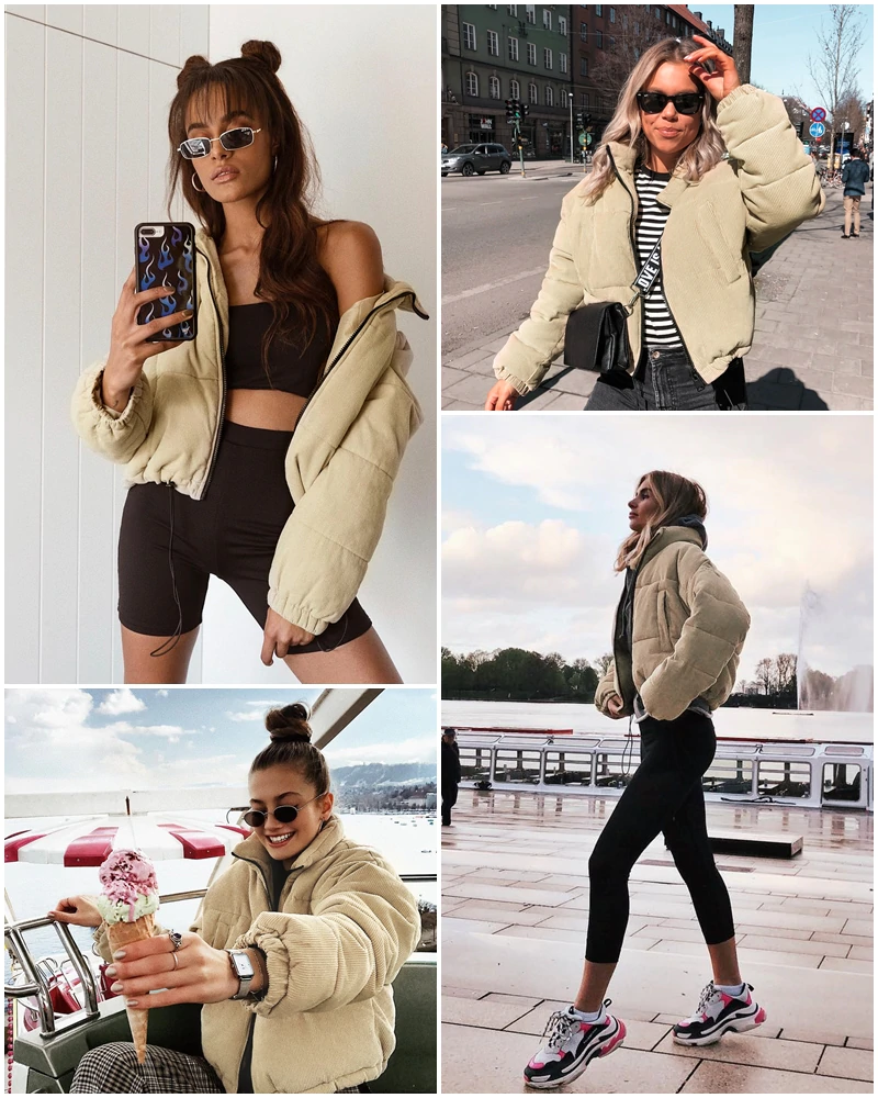 Free Shipping Corduroy Thick Parka Winter Outerwear Coats Jkp3288 Coats For Women Leather Jackets Women Warm Fashion [ 1000 x 800 Pixel ]