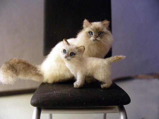 Dollhouse Miniature Kitten *Handsculpted*