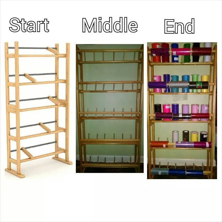 From Old Dvd Rack To Tulle And Ribbon Storage 5 Wooden Dowels