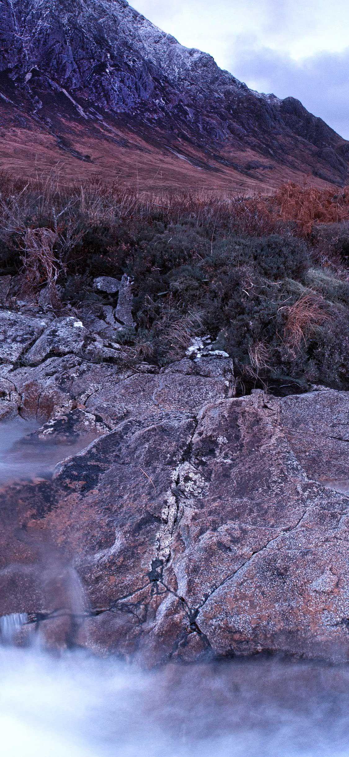 Iphone Pro Wallpaper River scotland brown black mountain