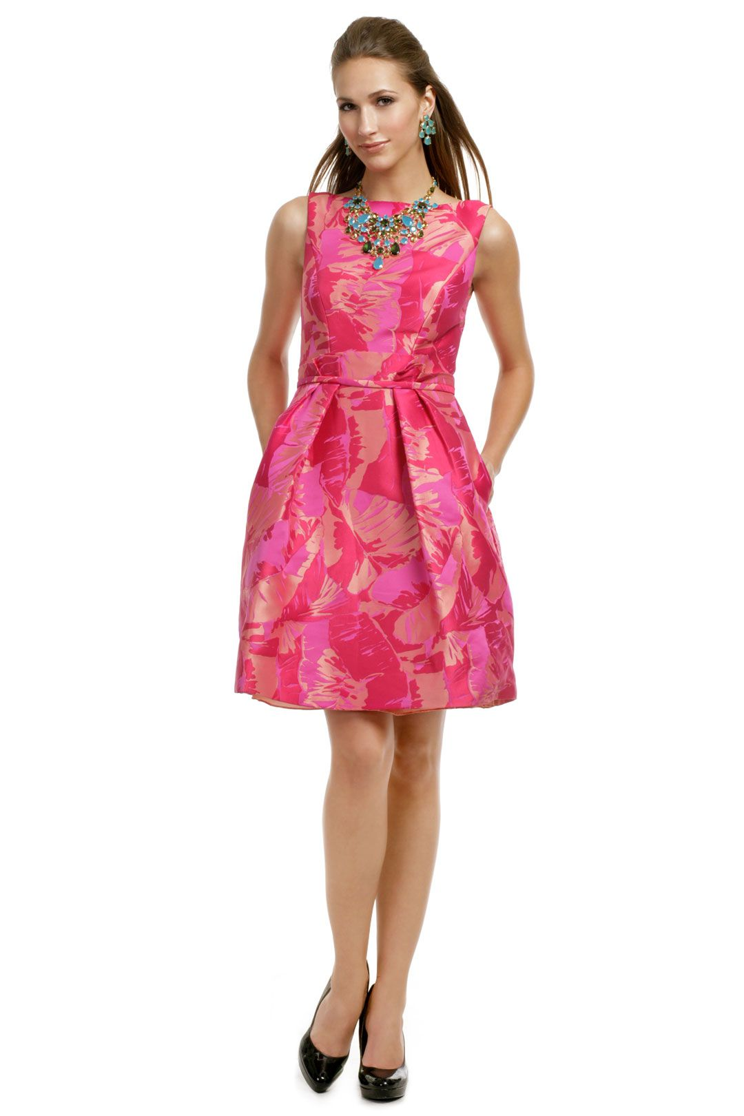 Theia Fuchsia Palm Party Dress- I would love this in my closet with ...