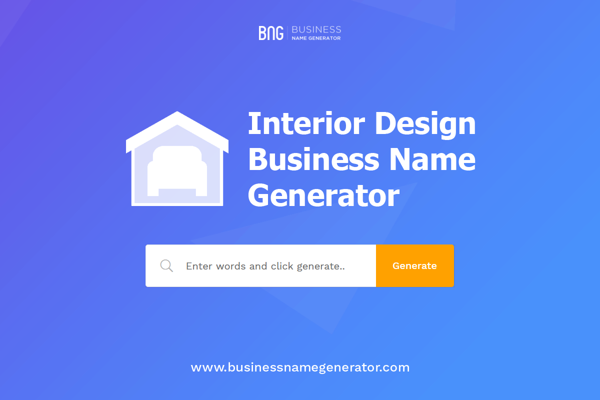 Interior Design Business Name Generator With Images Design Company Names Business Design Business Names