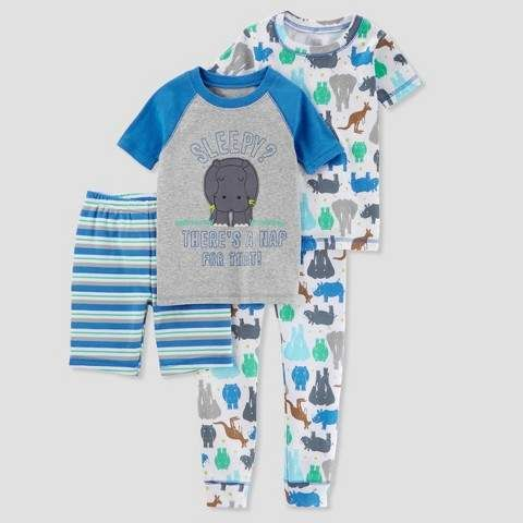5d7f85c12a32 Just One You made by carter Toddler Boys  4pc Sleepy Rhino Pajama ...