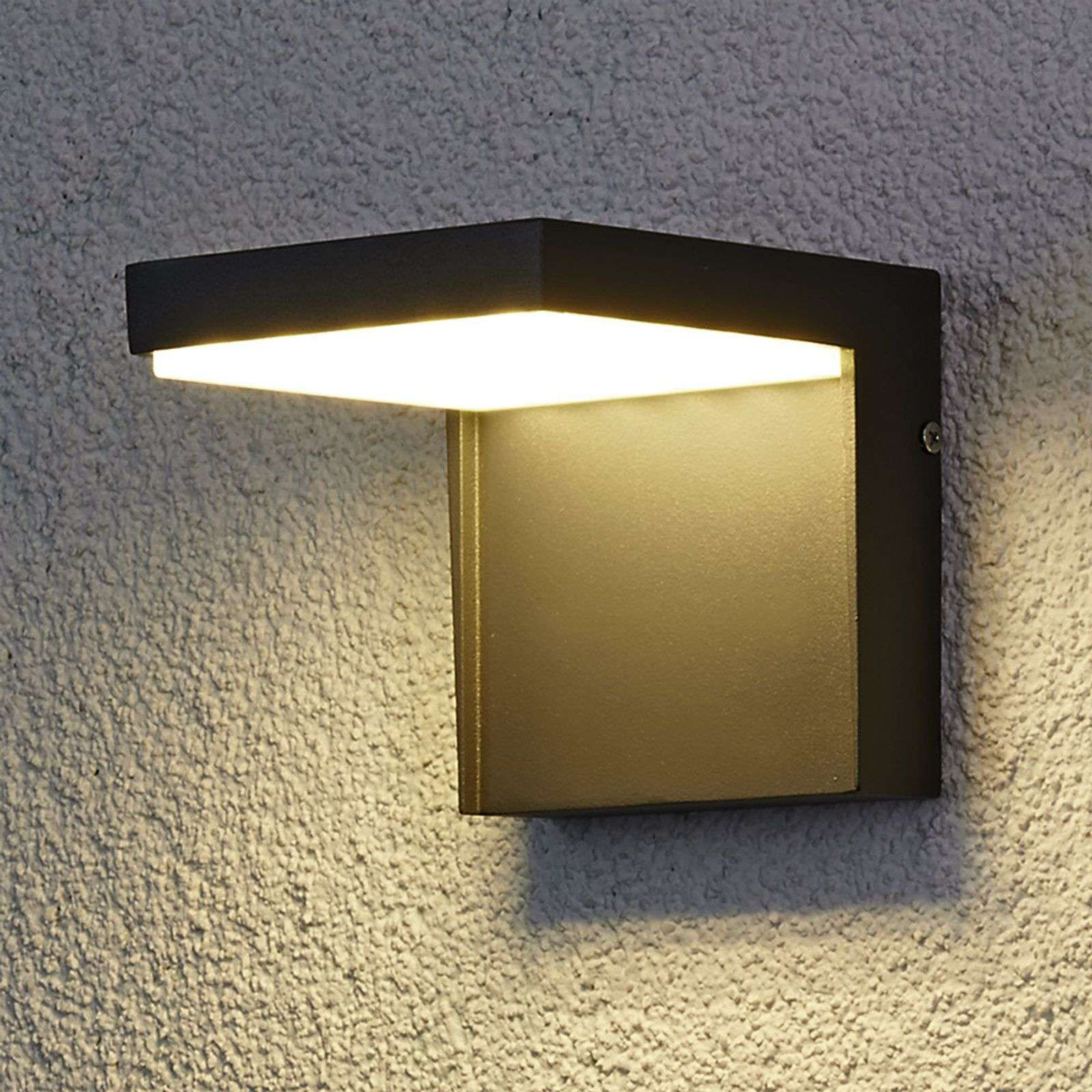 Modern Rachel Led Outdoor Wall Light Aluminium By Lucande In 2020 Outdoor Wall Lamps Modern Outdoor Wall Lighting Exterior Wall Light