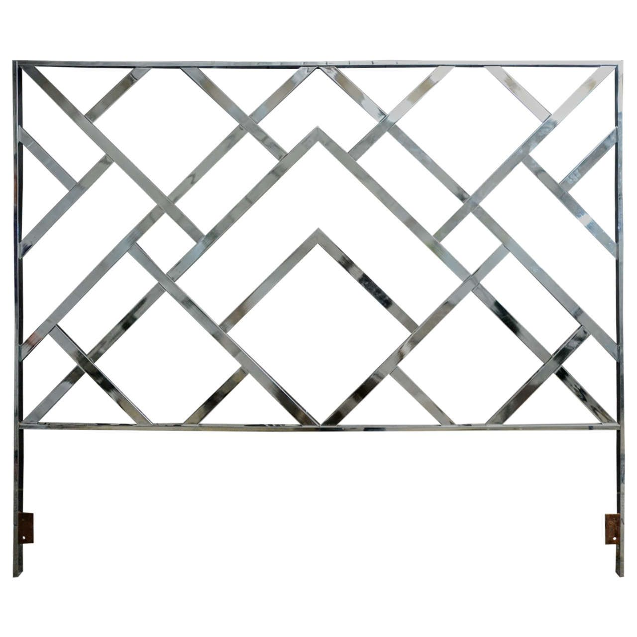 Unusual Vintage Lattice King Size Headboard By Milo Baughman From A Unique Collection Of Antique And Moder Headboard Lattice Headboard Dimensional Wall Decor