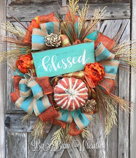 fall wreath autumn wreath rustic fall wreath thanksgiving