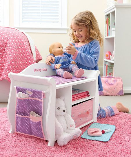 American Girl® Changing Table/Storage Unit for 15 Bitty Baby Doll ...