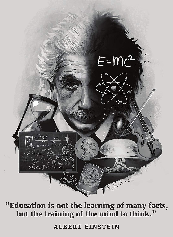Albert Einstein Framed Print Poster Picture E=MC2 German Physics Genius Art