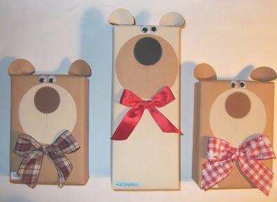 Regali Di Natale Per I Genitori Fai Da Te.Cartoncino Mio Orsetti Regalo Paper Things Gift Wrapping Gifts