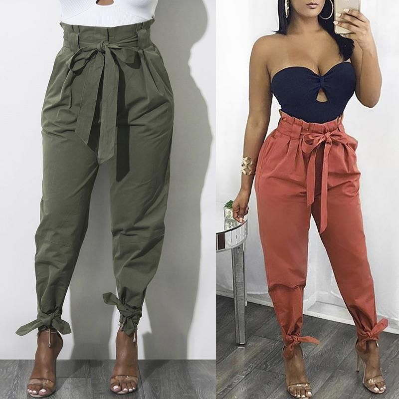 e4911c9f5 Fashion Belted Ankle Tie High Waist Pants | Outfit Inspo | Fashion ...