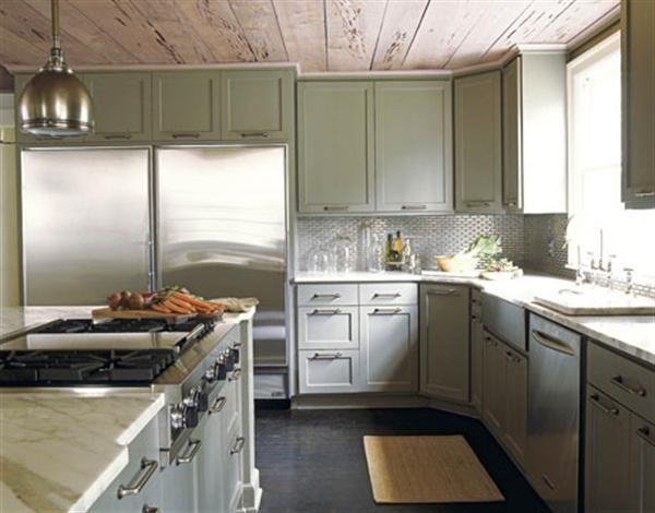 Green Grey Kitchens Cabinets Decoration Ideas | kitchen | Pinterest
