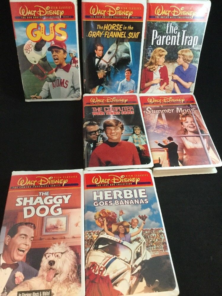 Lot Of 7 Walt Disney Film Classics Vhs Don Knotts Kurt Russell Haley