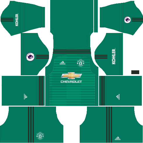 79e2593bb Man United F.C Goalkeeper Home Kit 2018 19 - Dream League Soccer Kits 18 19