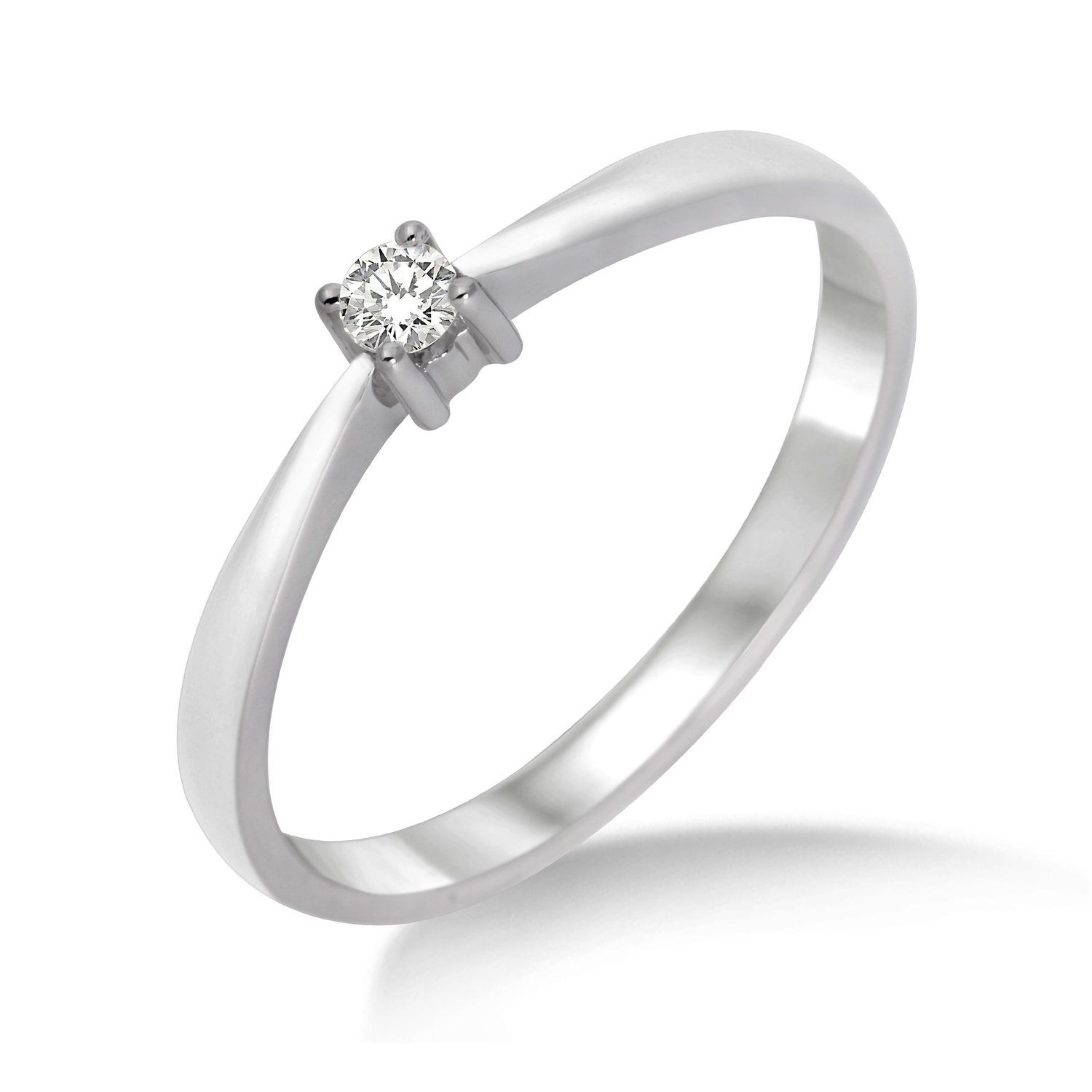 Miore - M9014RM - Bague Solitaire Femme - Or blanc 375 1000 (9 carats 4b5aa3eba809