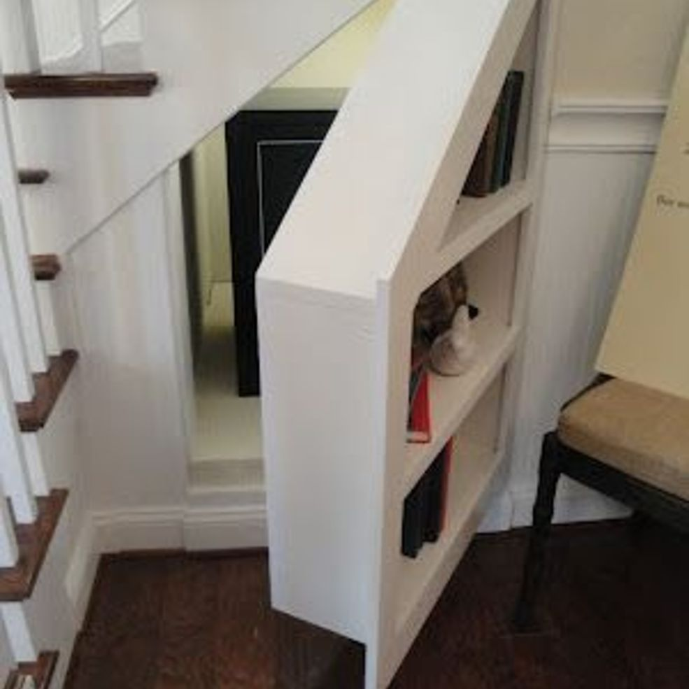 Beyond under stairs storage design ideas wine rack for Panic room plans