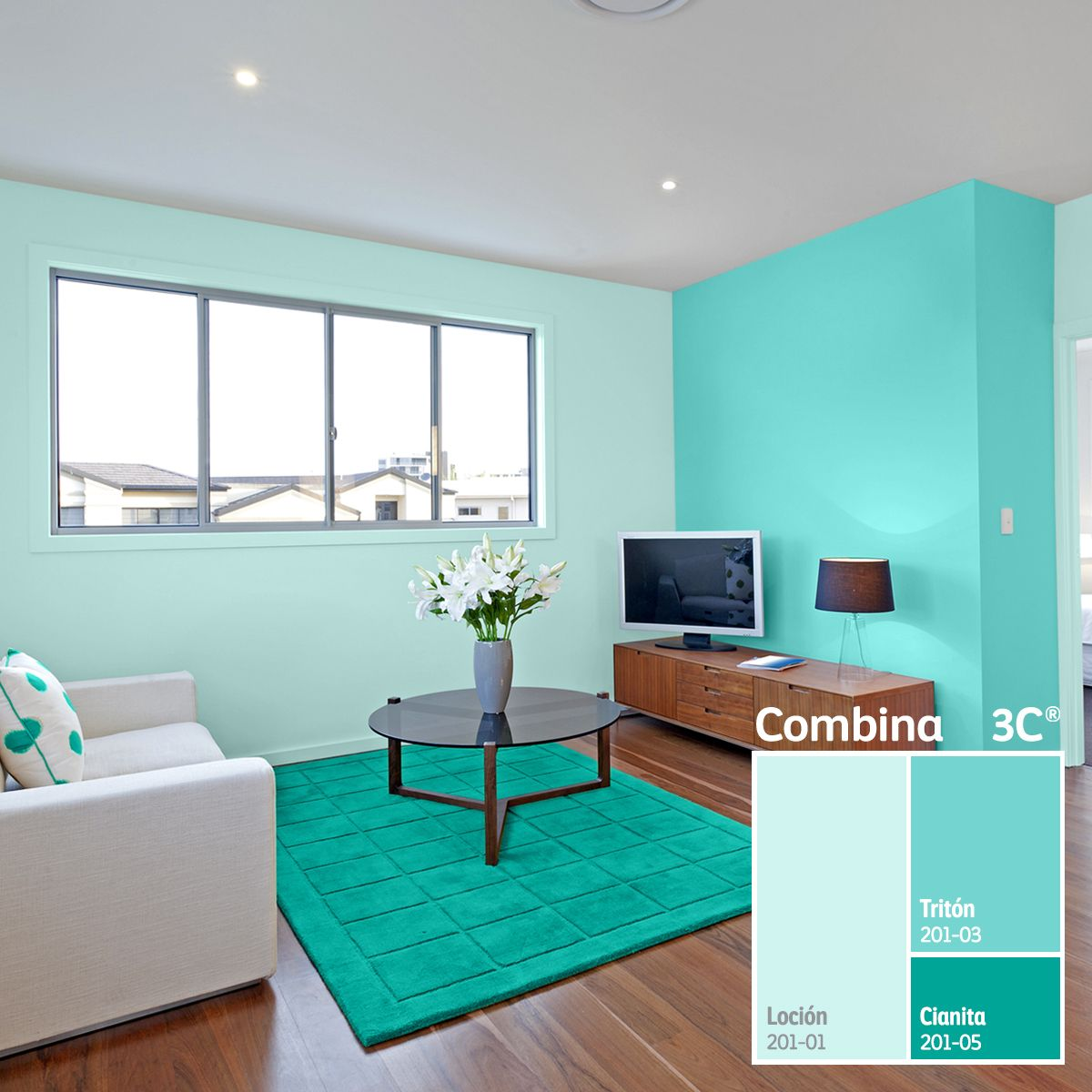 Para crear combinaciones monocrom ticas s lo debes elegir for Ver colores de pinturas para casas interiores
