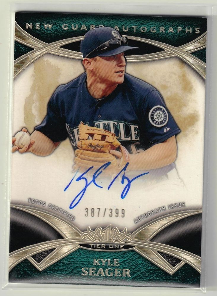 2014 topps tier one baseball kyle seager on card autograph