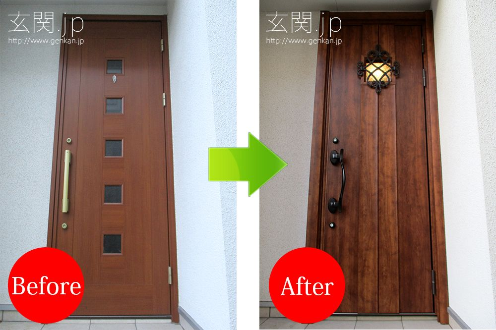 リクシル リシェント K1 5高断熱ドア 72 ハンドダウンチェリー色の玄関ドアリフォーム事例 玄関ドア リクシル 玄関ドア リクシル