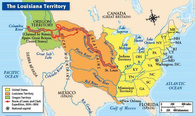 Louisiana Purchase The Louisiana Purchase Was A Land Deal - Louisiana river us map